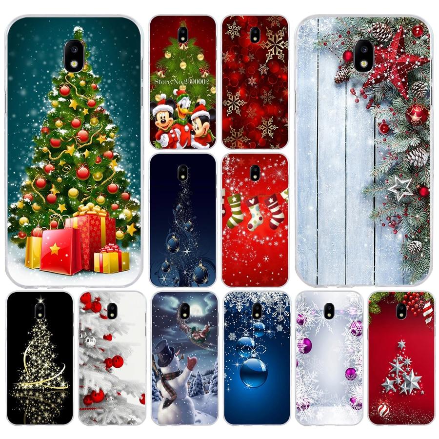 38SD Рождество праздник дерево новый год Мягкий Силиконовый ТПУ чехол для телефона Samsung j3 j5 j7 2015 2016 17 j2 prime j6 Plus 2018