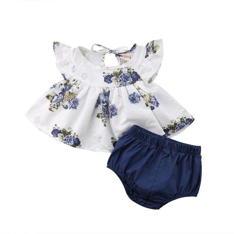 Pudcoco nueva moda recién nacido bebé Niñas Ropa Floral Tops vestido Harem pantalones cortos ropa de verano UK