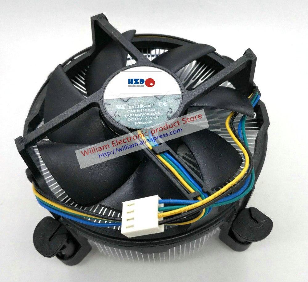 Neue Original für Intel 1150 1366 2011 Interface 2U Kupfer core-Computer CPU kühler kühler lüfter FONSONING