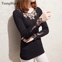 2020 lady lace o neck elegant diamonds sweaters elastic winter basic women hollow out pullovers knitted long sleeve sexy jumpers