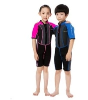 child short sleeve neoprene wetsuits diving suits boys girls jumpsuit rash guards one pieces surfing swimwear jellyfish clothing
