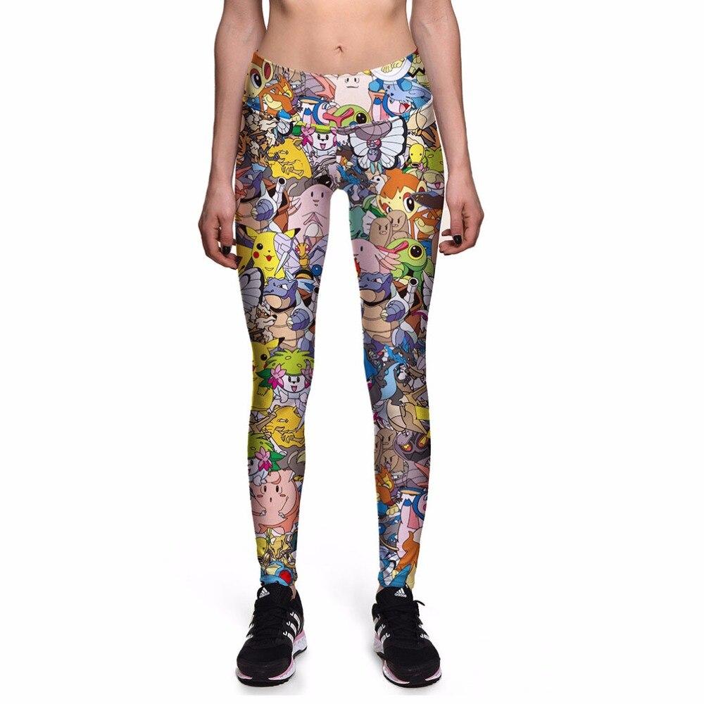 Leggings de moda para mujer, mallas 3d de cintura alta, pantalones con estampado Digital Pokemon GO, mallas deportivas con triangulación de envíos