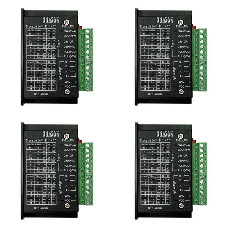 4 шт. TB6600 42/57/86 Драйвер шагового двигателя Nema 17 23 57/42/86 32 сегментов обновленная версия 4.0A 42VDC для фрезерного станка с ЧПУ
