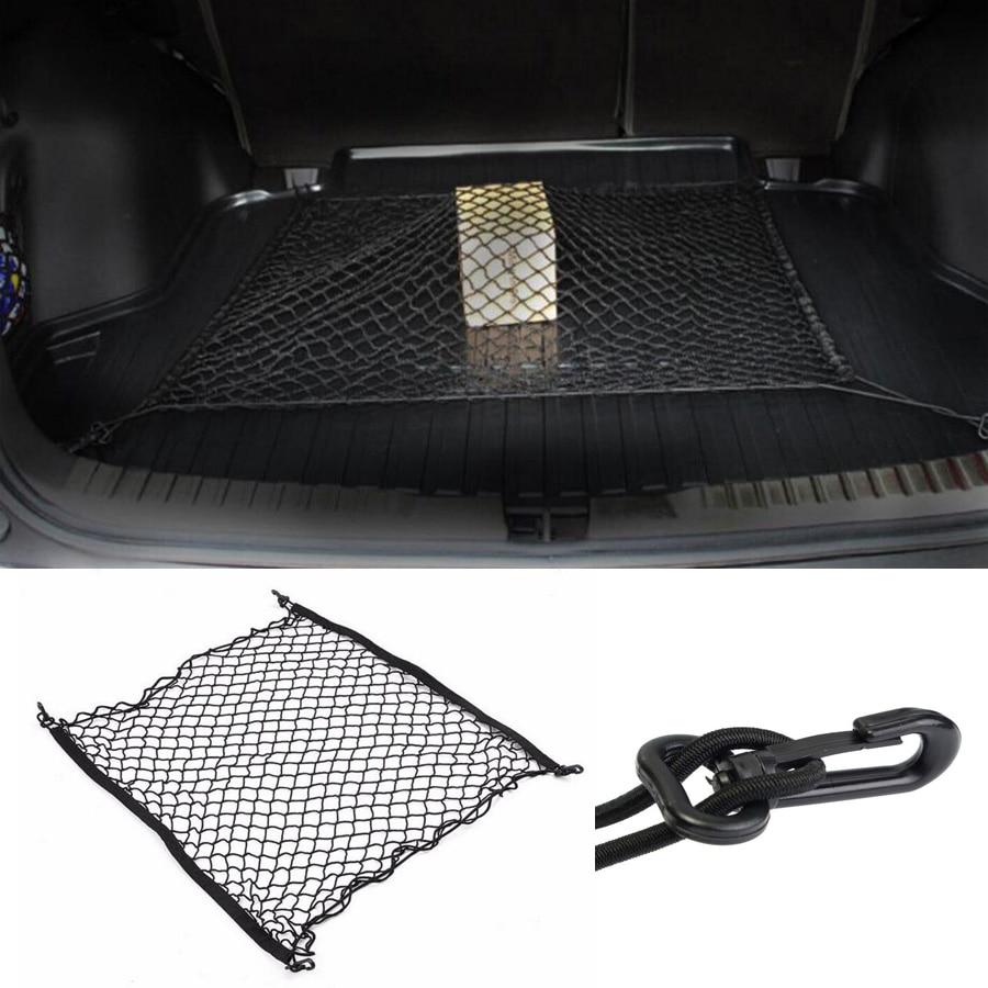 100x100CM Universal coche trasero maletero almacenamiento de equipaje organizador de red bolsa de red con 4 ganchos apto para SUV Toyota RAV4 CRV 4X4