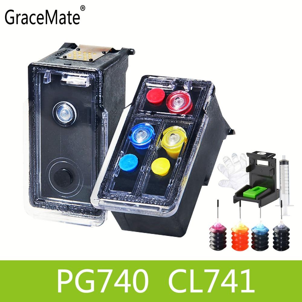 Caliente en Asia PG740 CL741 Compatible cartucho de tinta rellenable para Canon Pixma MX517 MX437 MX377 MG3170 MG2170 MG3570 MG3670 MG4170