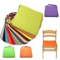 new fashion candy color super soft chair cushion non slip seat cushionback cushion chair pad can be fixed on chair