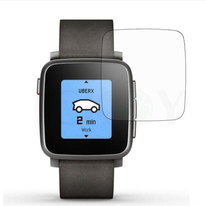 2 uds. Protector de película protectora Ultra claro TPU suave antigolpes para Pebble Time Protector de pantalla de reloj inteligente de acero (no de vidrio)