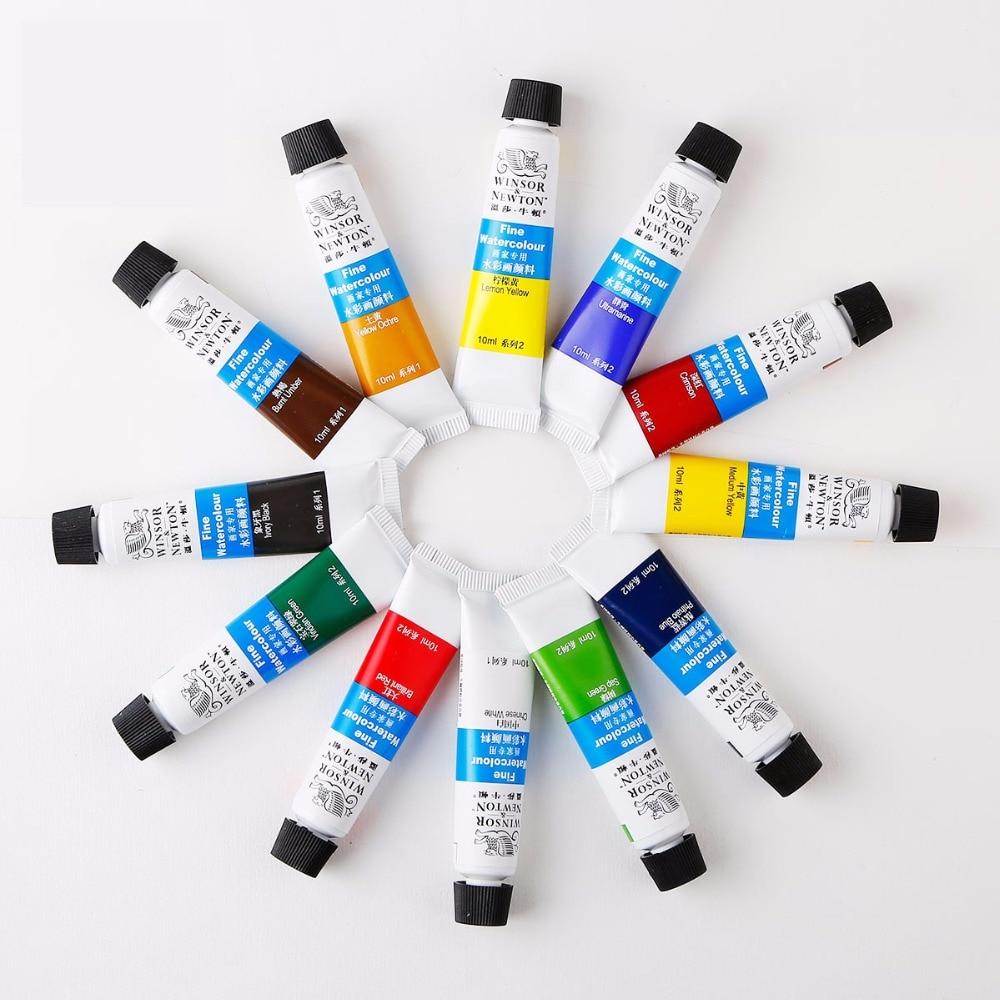 Winsor & Newton 12/18/24 colores profesional acuarela pinturas de alta calidad pigmento para pintar de acuarela para artista pintura