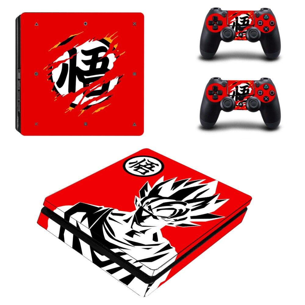 Anime Dragon Ball décalcomanie PS4 autocollant de peau mince pour Sony PlayStation 4 Console et 2 contrôleurs PS4 autocollant de peau mince