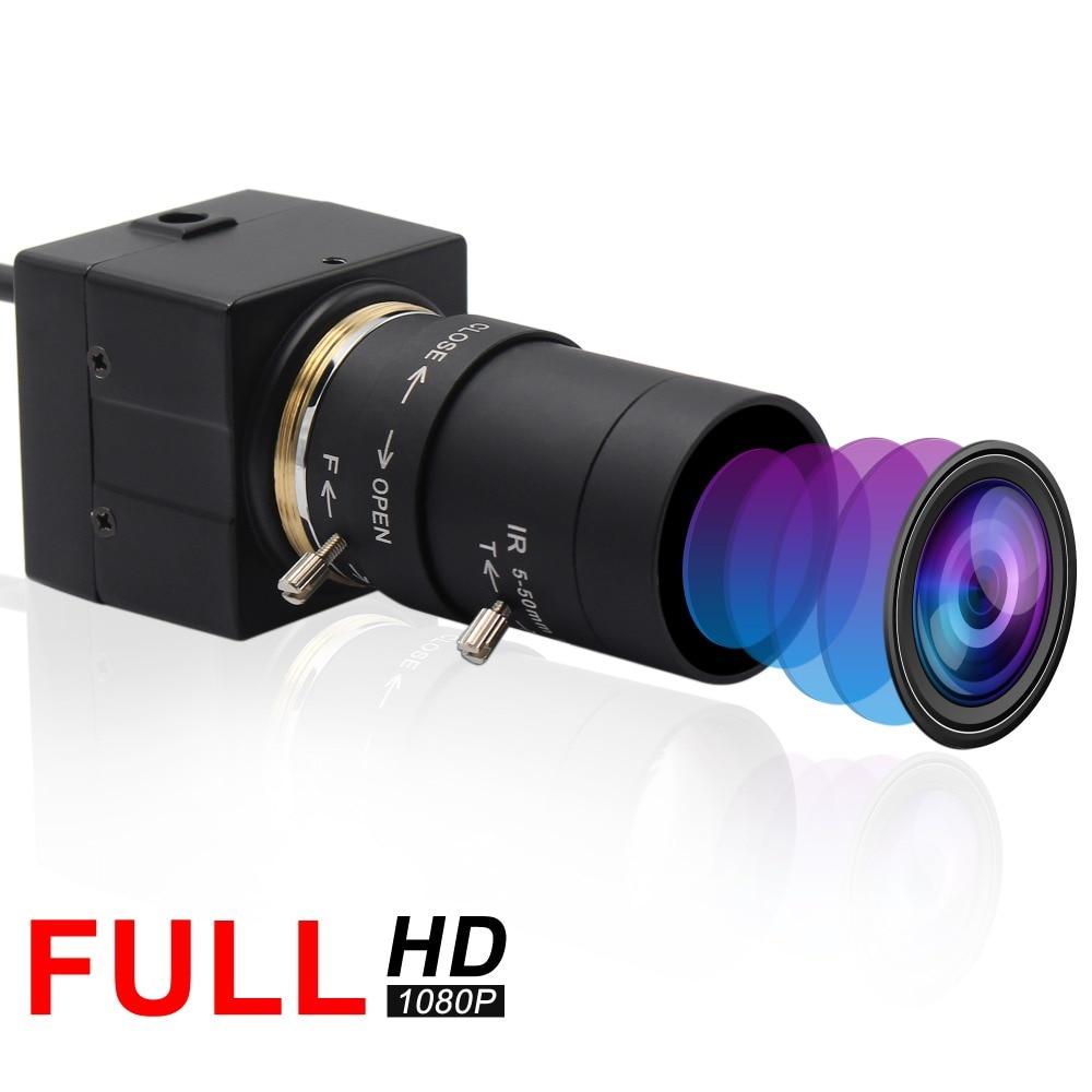 Full hd 1080P USB веб-камера 5-50 мм варифокальный CMOS OV2710 30fps/60fps/120fps промышленная usb камера UVC для ПК компьютера ноутбука