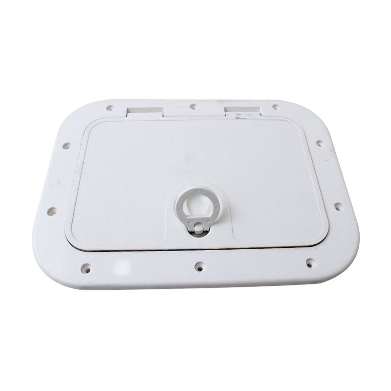 White ABS Marine rectangle deck cover hand hole boat porthole cover storage box cover for RV Boat Yatch 375*280MM