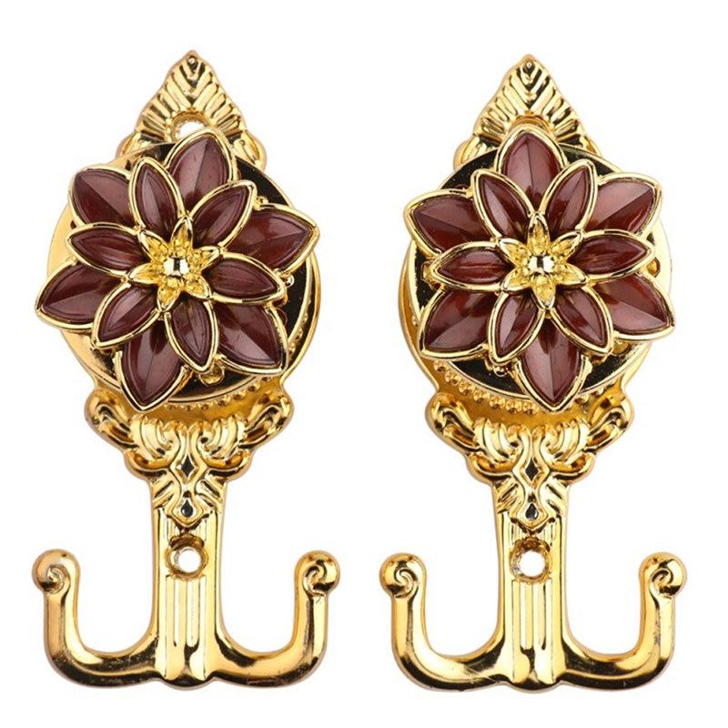 Creativo de lujo flor de loto cortina Tieback Toalla de borla colgador ganchos pared gancho Rustless ventana puerta cortina Accesorios