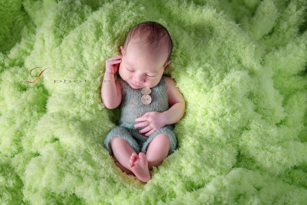 Tejer recién nacido Mohair Romper bebé recién nacido hecho a mano overoles recién nacido Pantalones Mohair Prop tejido Jumpersuits recién nacido Props