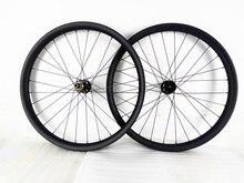 29er 40X25mm vtt carbone roue powerway BOOST asymétrie AM 142x12mm à travers laxe vtt roues de vélo UD mat VTT roues