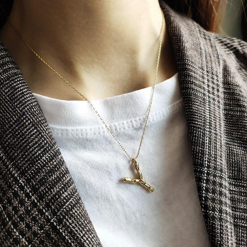 Wtltc personalizado inicial carta pingente colares para mulher 925 sterling sliver em camadas colares personalizado martelado colar