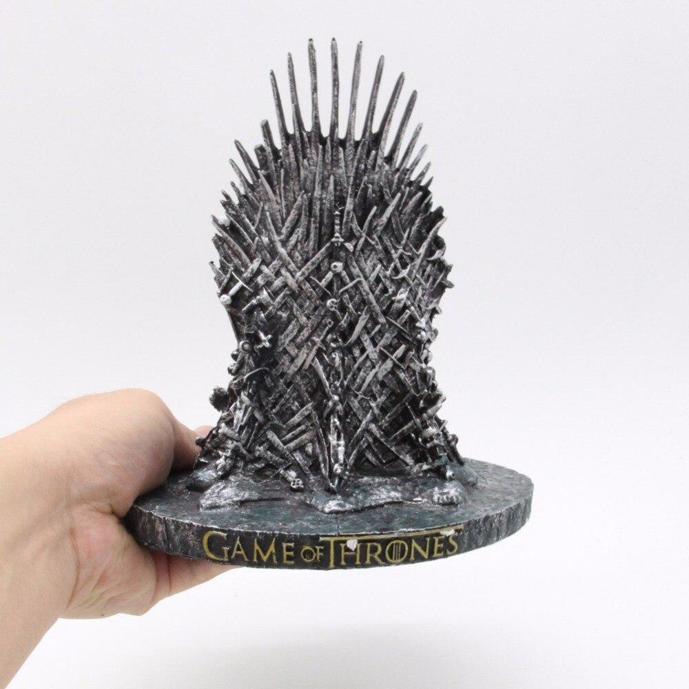 O modelo do trono de ferro no jogo dos tronos figura brinquedos coletivos