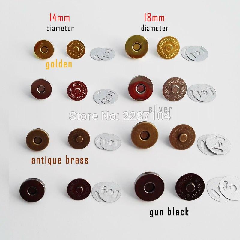 10 комплектов 14 мм 18 мм круглая сумка без шитья кожаная сумка кошелек Магнитный пресс-Оснастка застежка на кнопках