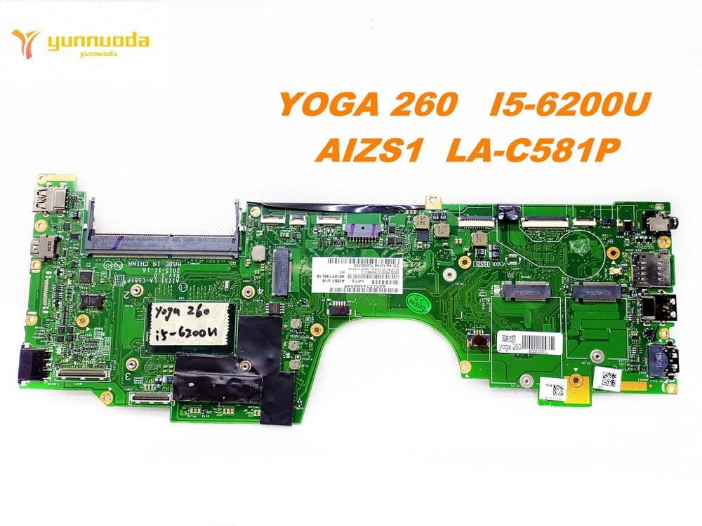 الأصلي لينوفو اليوغا 260 اللوحة المحمول اليوغا 260 I5-6200U AIZS1 LA-C581P اختبار جيد شحن مجاني