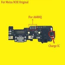 For Mei zu M3E Meilan E A680Q Microphone USB Board Flex Cable Connector Parts 5.5 Inch Mobile Phone