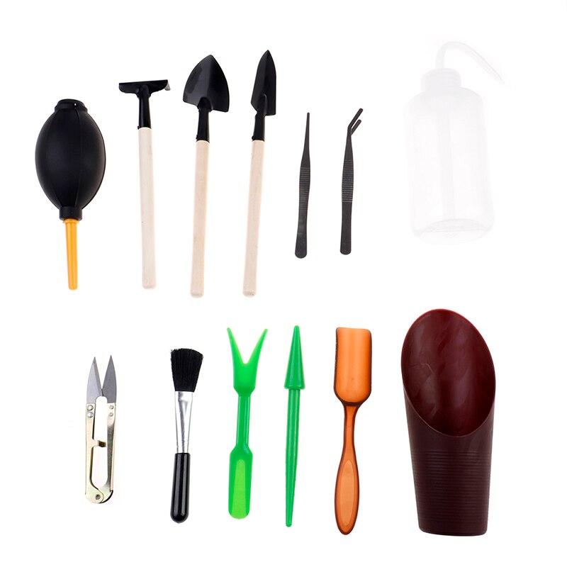 Mini juego de herramientas bonsái para exteriores, planta hecha a mano plantar flores, Pala/Pala de jardín, herramientas de mano de tres piezas en venta