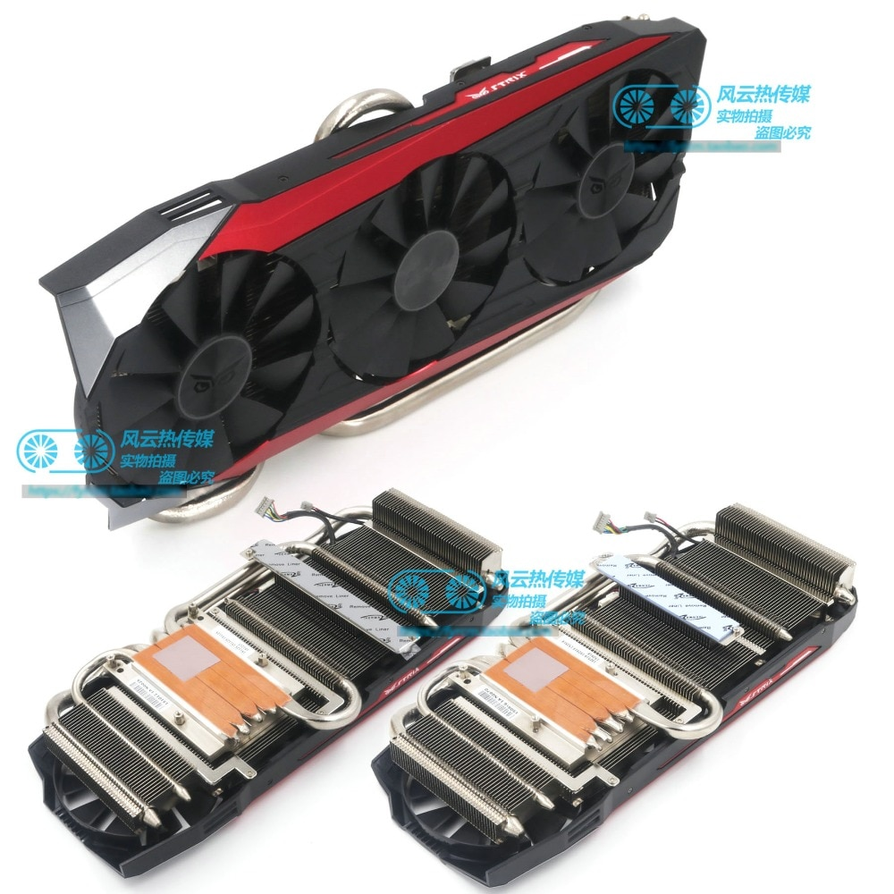 New Original for STRIX Raptor GTX980Ti R9 390X R9 390 graphics card cooling fan Cooler FONSONING