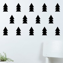 Autocollants muraux Silhouette pour arbre de noël   Ensemble de décor aimant, pour la maison, chambre denfants, papier peint à motifs