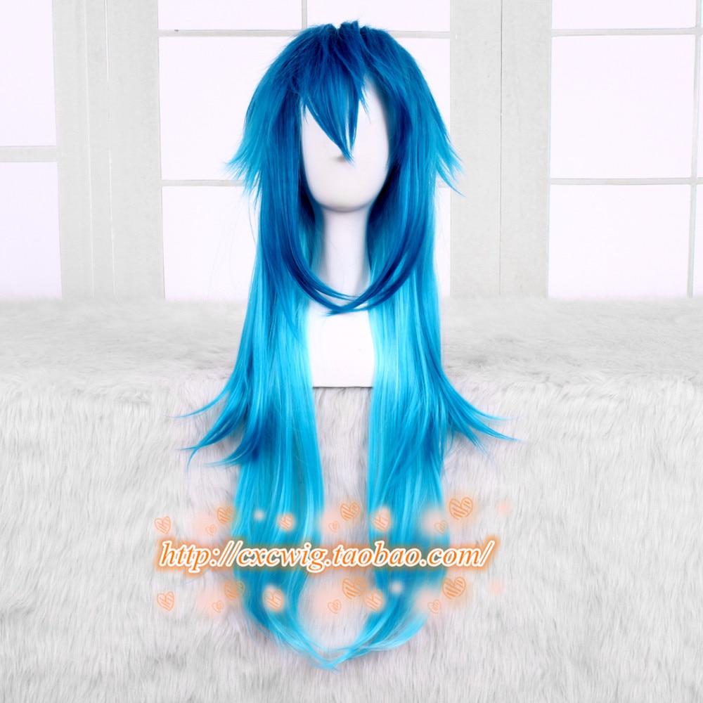 Мужской карнавальный костюм Seragaki Aoba, японский карнавальный костюм с синими градиентными париками