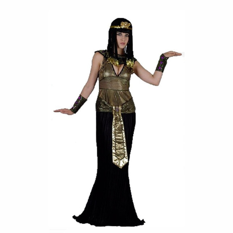 Adulto masculino feminino festival traje faraó egípcio trajes festa de halloween egito princesa cosplay fantasia vestido roupas