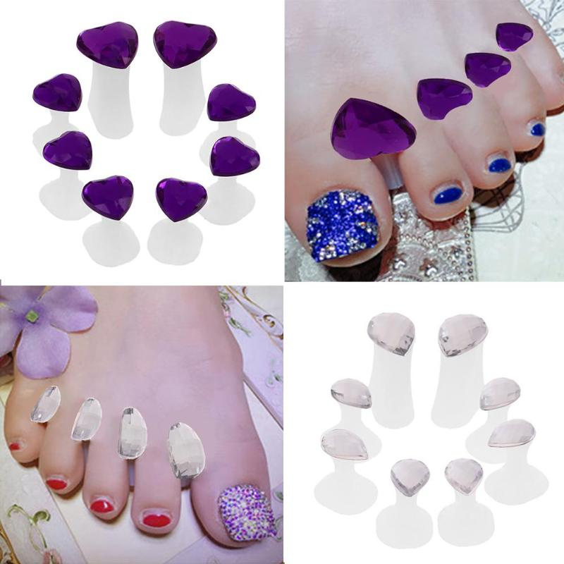8pcs/Pack Nail Art Toes Separators Fingers Foots Sponge Soft Gel UV Polish Manicure Pedicure Nail Art Feet Care Beauty Tools