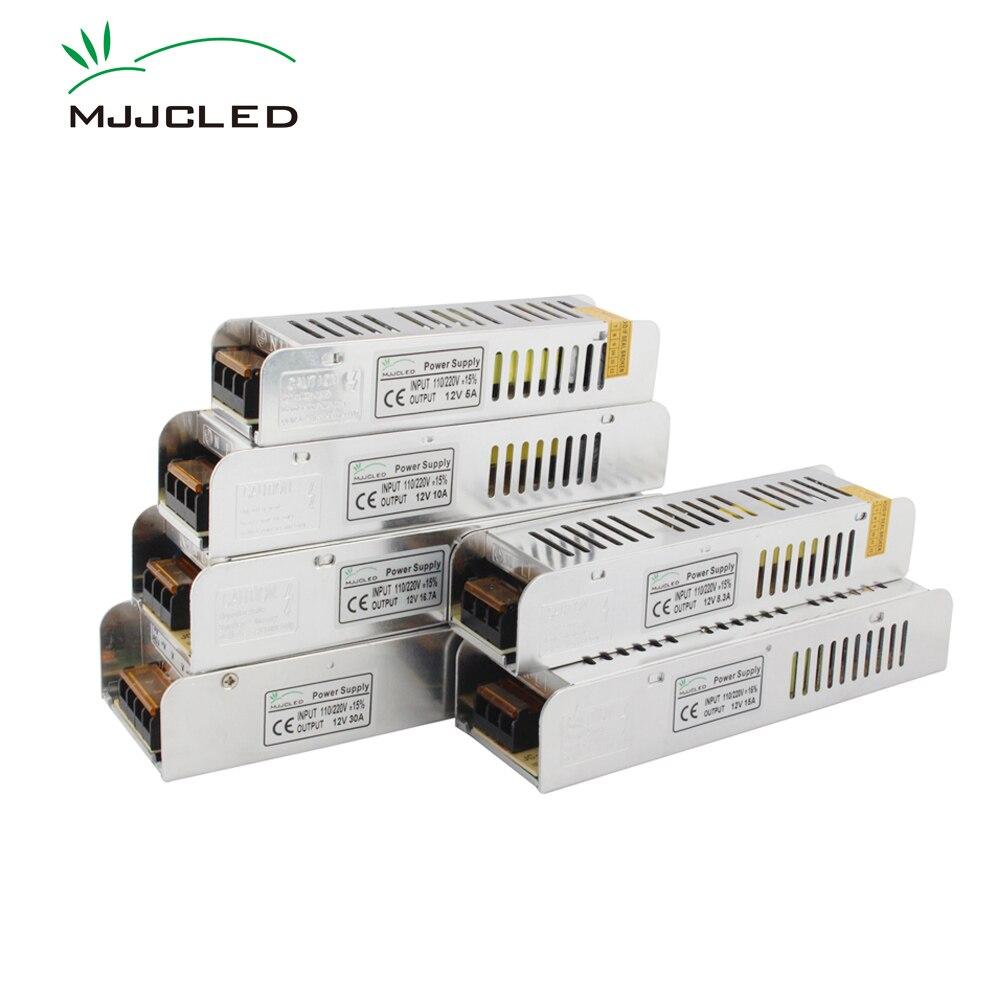 12 вольт источник питания 12 В 5A 10A 15A 20A 30A 33A электронный трансформатор 110 В 220 В до 12 В блок питания для светодиодной ленты