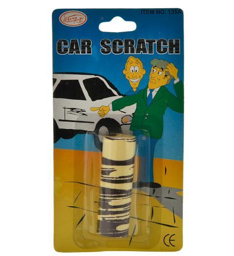 2pcs/lot Trick Fake Car Scratch Funny April Fool Joke Novelty Funny Gags Trick Toy