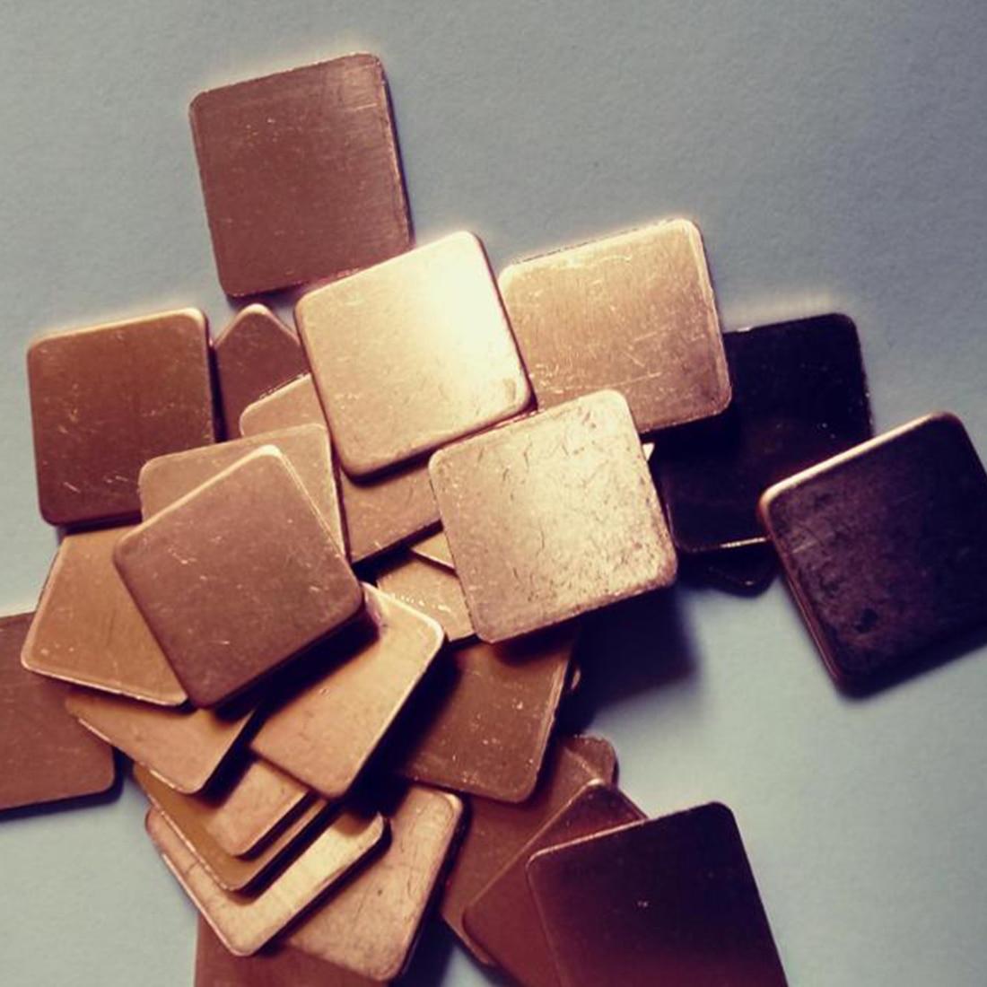 20mm x 20mm 10 Uds pastilla de barrera térmica disipador de cobre puro Shim almohadillas térmicas para Laptop GPU VAG PAD 0,3mm 0,5mm 0,8mm 1,0mm 1,2mm