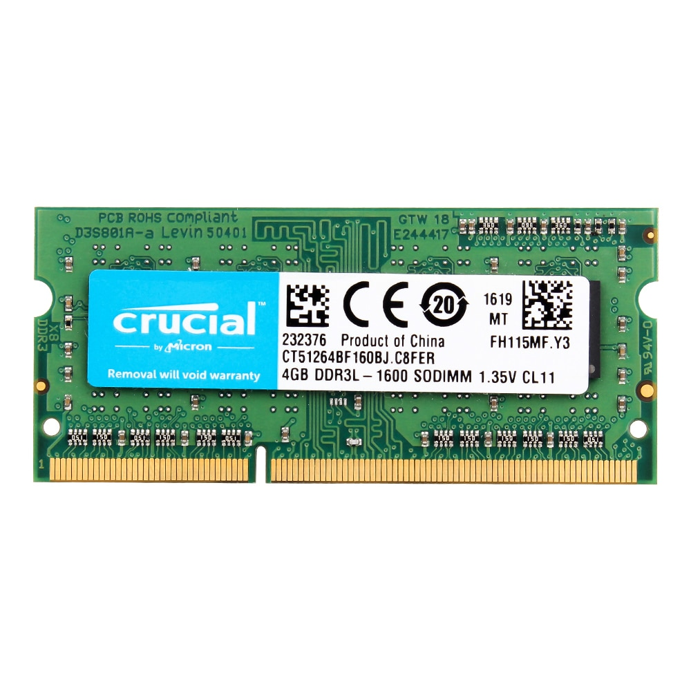 Crucial portátil de memoria 8GB = 2 uds * 4G PC3L 12800...