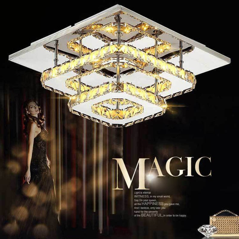 LAIMAIK plafond LED cristal luminaires pour lampe dintérieur lampe de plafond moderne pour chambre à coucher