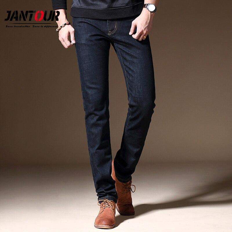 jantour 2020 new luxury Mens brand black jeans men cotton skinny Slim Solid Casual Stretch Denim jean mens long Pants male