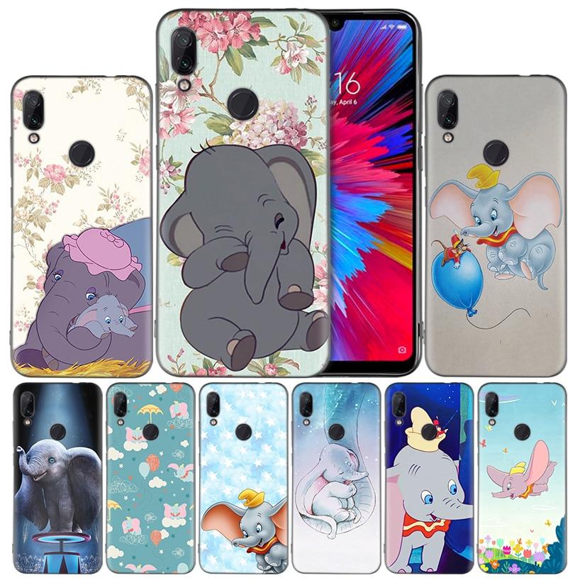 Animation Dumbo Silicone Case Cover for Xiaomi Redmi Note 8 8Pro 8T 9S 9 Pro Max 7 Redmi 9 8 8A 7 7A 6A 6 Pro Soft Phone Shell