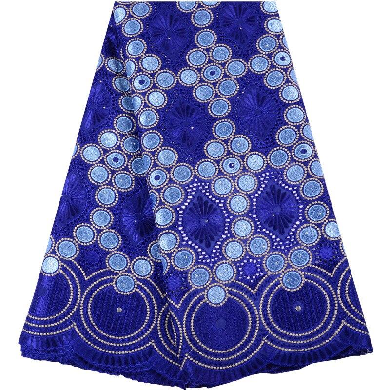 2019 nuevo diseño de encaje suizo de algodón encaje africano tela francesa encajes con piedras de alta calidad velo suizo encaje A1468