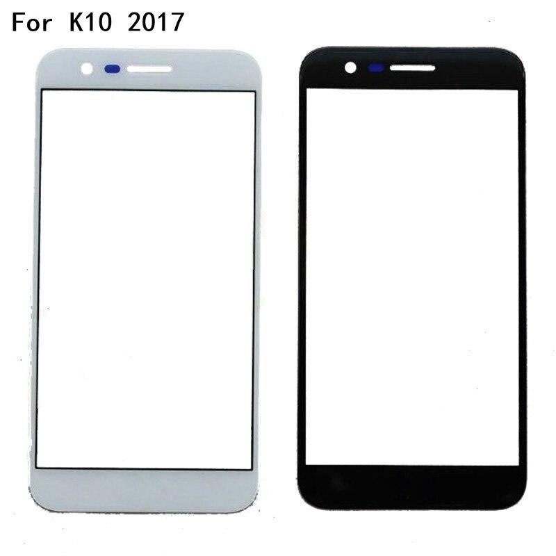 Panel frontal para LG K10 2017 K 10 X400 K20 Plus LV5 M250 pantalla táctil Sensor LCD pantalla digitalizador parte de cubierta de vidrio