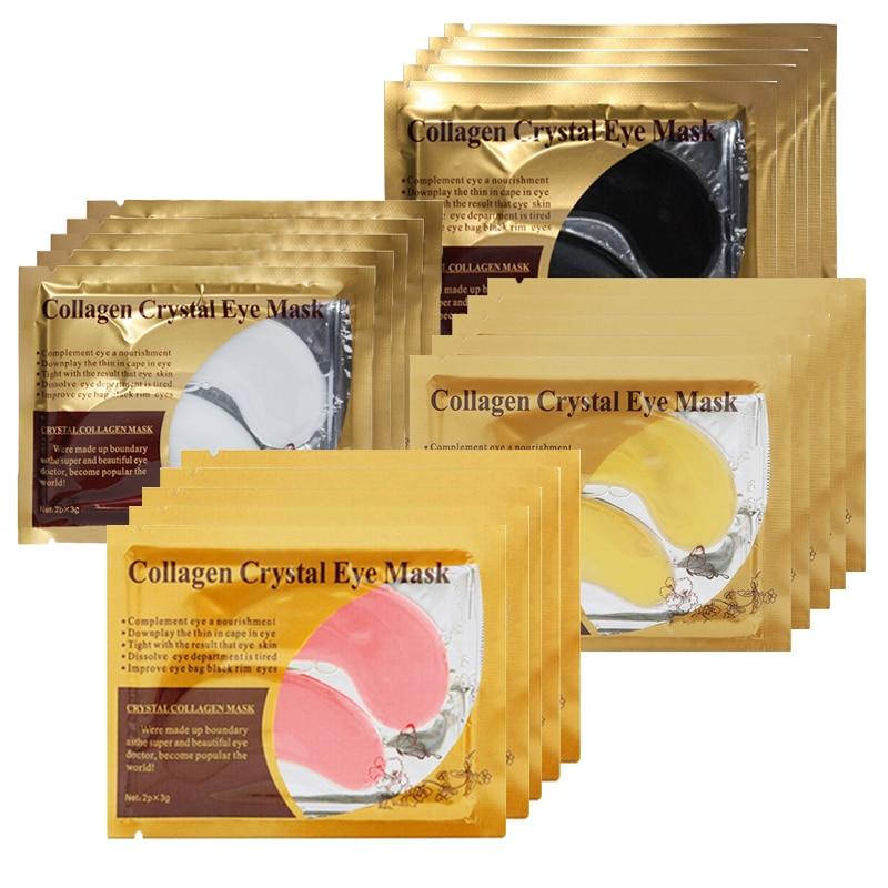 10pcs=5pair Gold Eye Mask Collagen Crystal Eye Mask Hydrogel Eye Patch Anti-Wrinkle Dark Circle Remove Moisturizing Eye Patches