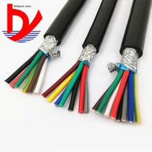 Câble blindé multi-core 22AWG 0,3mm2   RVVP 2/3/4/5/6/7/8/10/12/14/16/20/24, ligne de signal onduleur anti-parasites