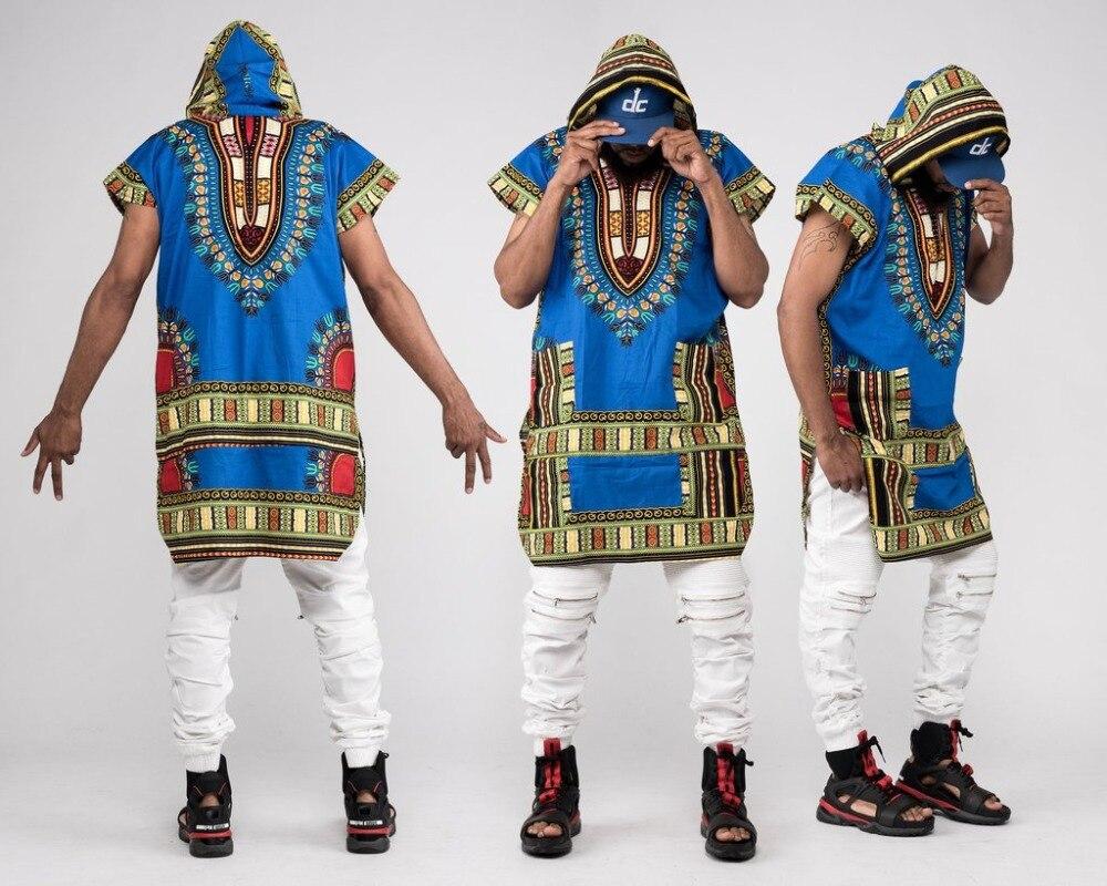 África ropa impresión camisa suelta sudaderas Dashiki 100% algodón Hipster tradicional africano camiseta Tribal étnico hombres camisas Plus