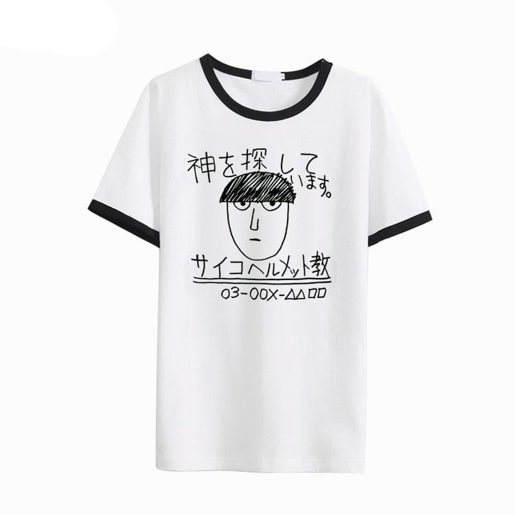 Nouveau Mob Psycho 100 T shirt Anime Kageyama Shigeo Cosplay Costumes lâche manches courtes t-shirts T-shirt