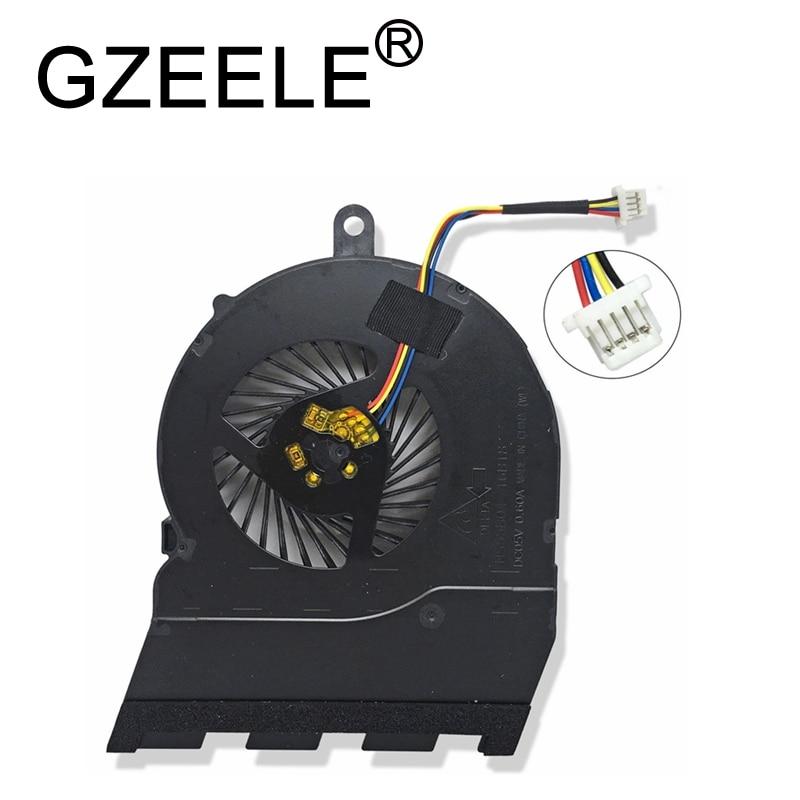 "GZEELE новый вентилятор охлаждения процессора для DELL Inspiron 15 5567 17-5767 15-5565 17-5000 15 5565 15G P66F 15,6 ""вентилятор охлаждения процессора 4 линии"