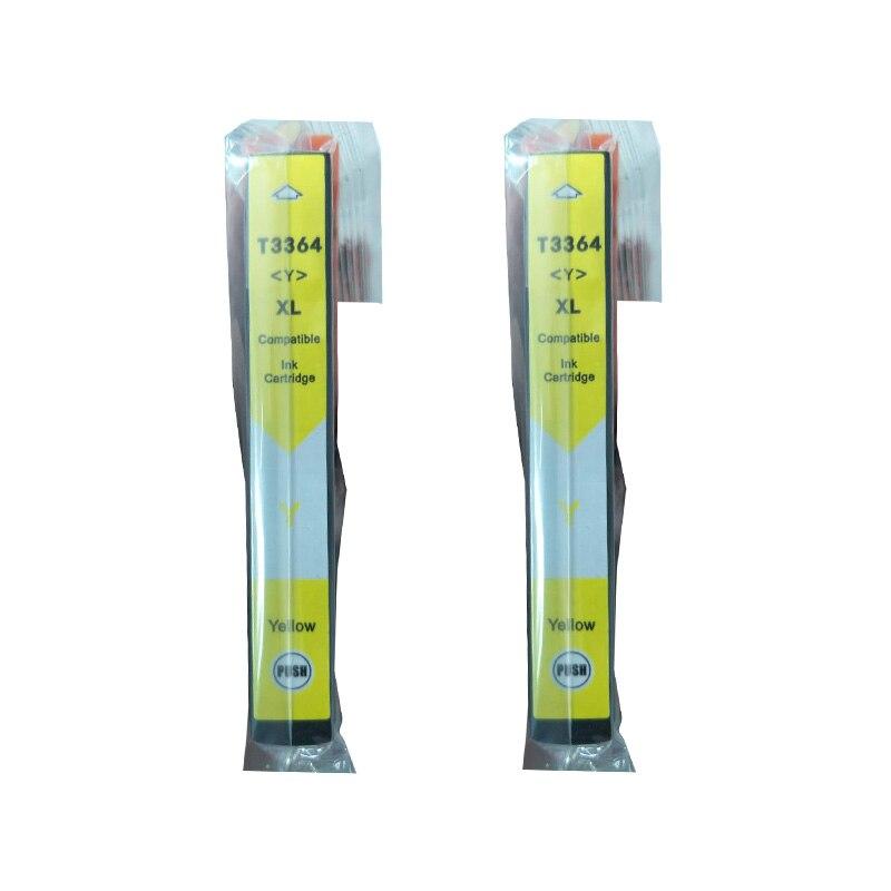 2 Pacote T3364 33XL Amarelo Cartuchos De Tinta para Epson Expression Premium XP-640 XP-530 XP-830 XP-635 XP-900 XP-630 XP-540 XP-645