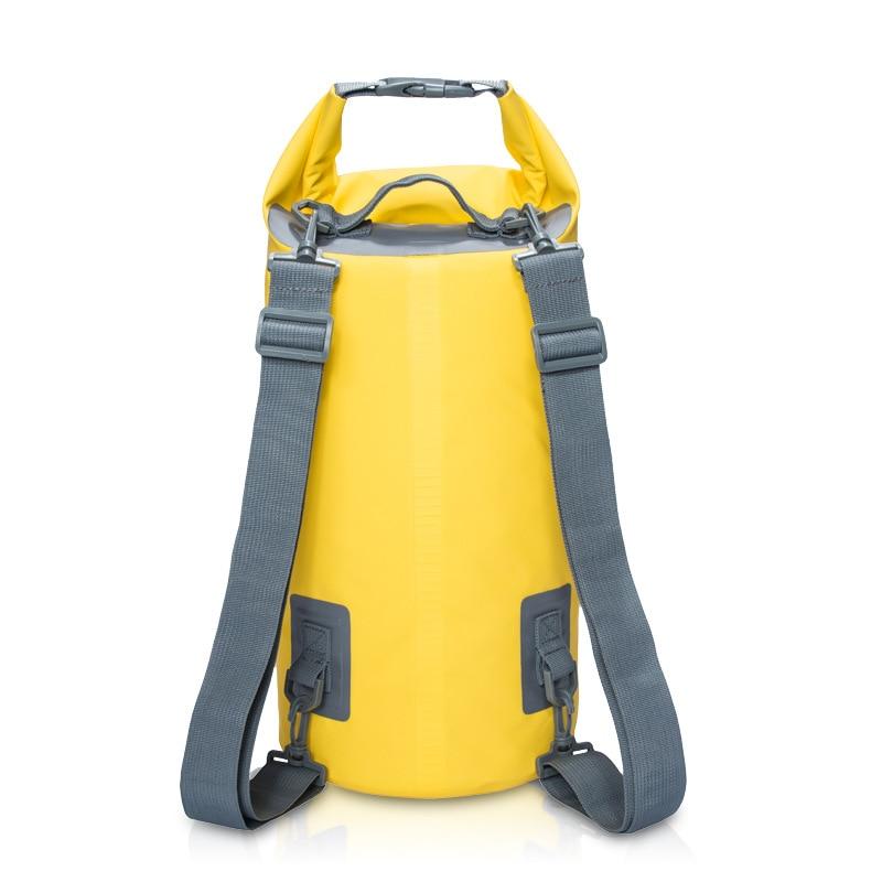 Bolsa seca impermeable de PVC 5L 10L 15L 20L para buceo al aire libre, bolsa de almacenamiento plegable para hombre y mujer, bolsa de playa para nadar, mochila de Rafting para Río y Océano
