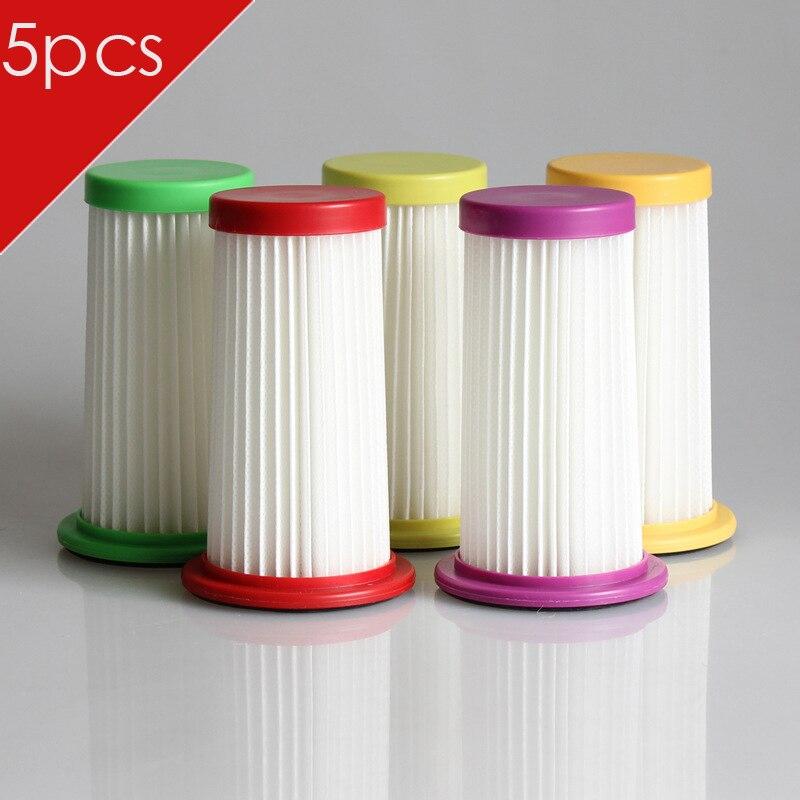 Filtro de cepillo HEPA de alta calidad, 5 unids/lote, elemento para aspiradora Philips FC8250 FC8254 FC8256 FC8257 FC8258 FC8260 FC8261