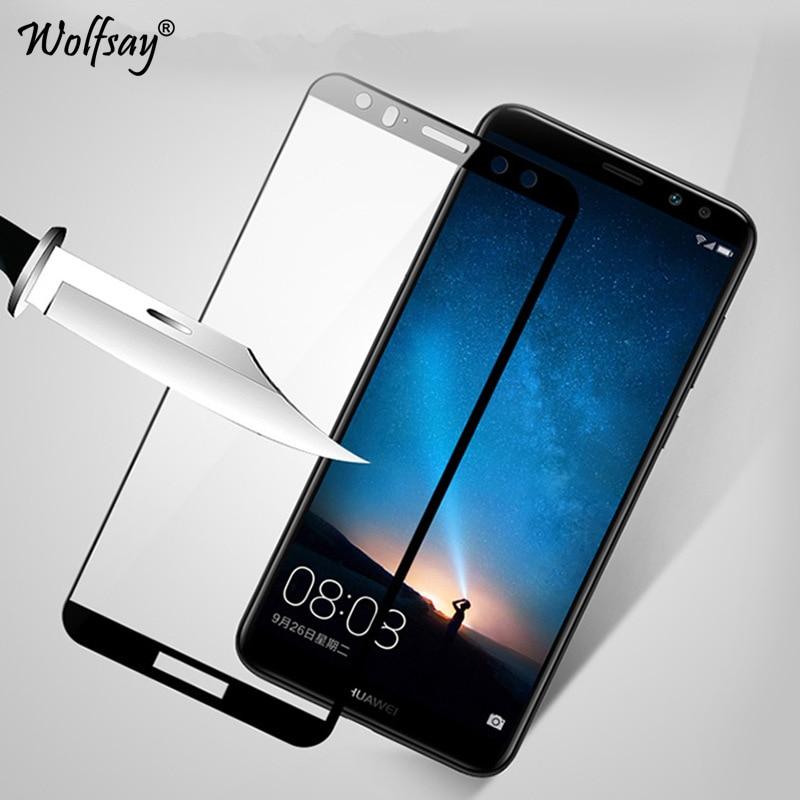 2PC For Tempered Glass Huawei Nova 2i Screen Protector Mate 10 Lite 2.5D Full Cover Glass For Huawei Nova 2i Glass Coverage Film