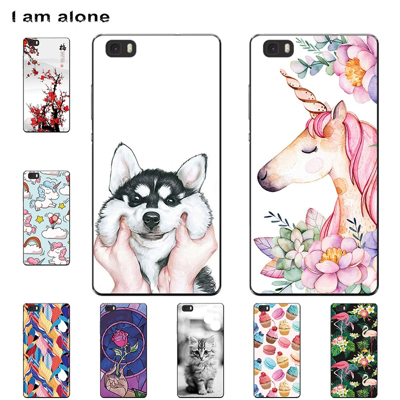 Fundas de teléfono I am alone para Huawei P8 lite 2015 5,0 pulgadas de plástico duro a la moda bolsas bonitas para P8 lite ALE-L21 envío gratis