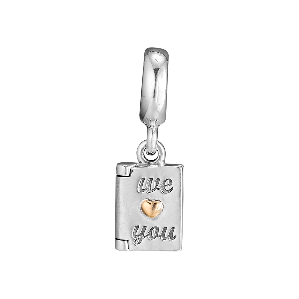 CKK 925 joyería de plata de ley 14 K Tarjeta de oro plata colgante con dijes cuentas DIY se adapta a pulseras para hacer joyas