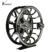 Maxway Elite Full Metal Anti-corrosion Fly Fishing Reel 5/6 CNC Mechine Cut High Density Aluminum Alloy Trout Fishing Reel